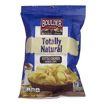 Boulder Canyon Sea Salt Kettle Cooked Potato Chips - 2 oz.