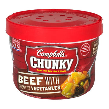 Campbell's Chunky Beef Soup Bowl - 15.25 oz.