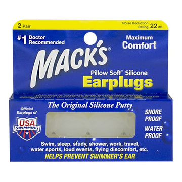 Mack's Pillow Soft Silicone Earplugs - 2 Pairs