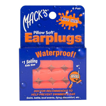 Mack's Soft Moldable Silicone Putty Earplugs - Kids Size - 6 Pairs