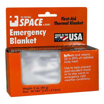 Space Brand Emergency Thermal Blanket - 56 in. x 84 in.