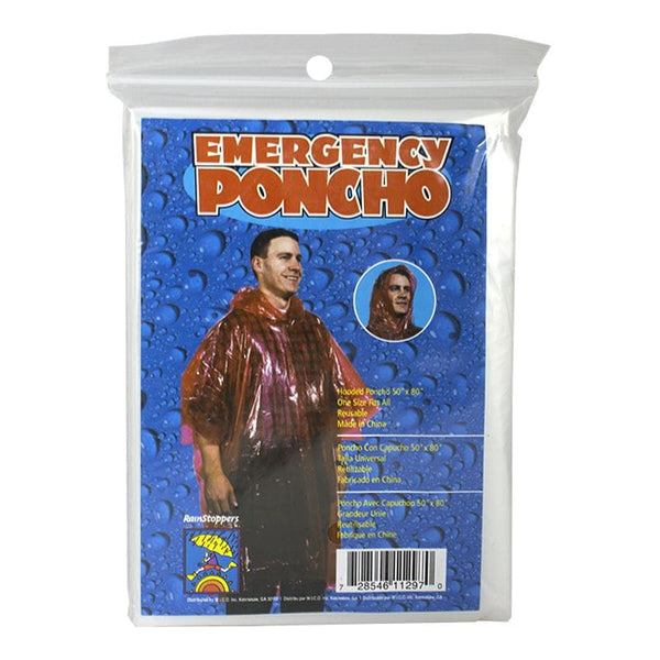 Adult Emergency Poncho - Assorted Colors