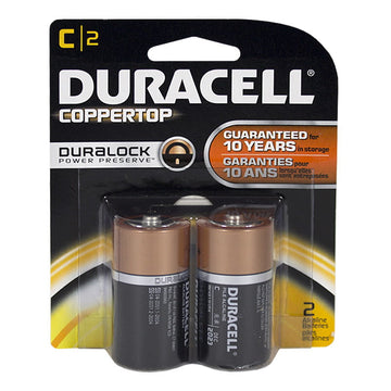 Duracell Coppertop C Batteries - Card of 2