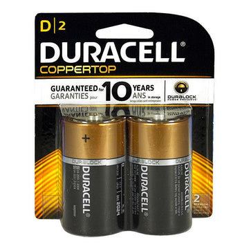 Duracell Coppertop D Batteries - Card of 2