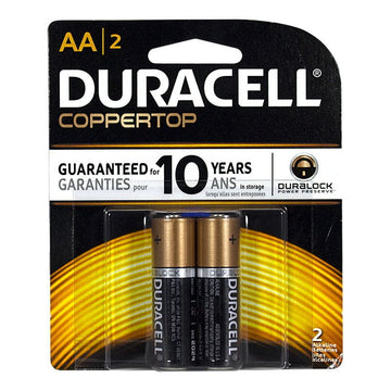 Duracell Coppertop AA/2 Batteries - Card of 2