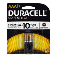 Duracell Coppertop AAA/2 Batteries - Card of 2