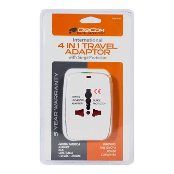 DigiCom International Travel Adapter - 4 in 1
