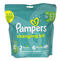 Pampers 8 Piece Changing Kit - Size 4