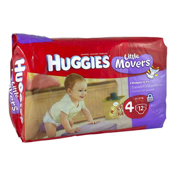 Huggies Little Movers Diapers Size 4 - Pack of 12