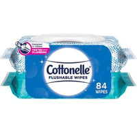 DISCONTINUED - Cottonelle Flushable Moist Wipes - Two Packs of 42ct
