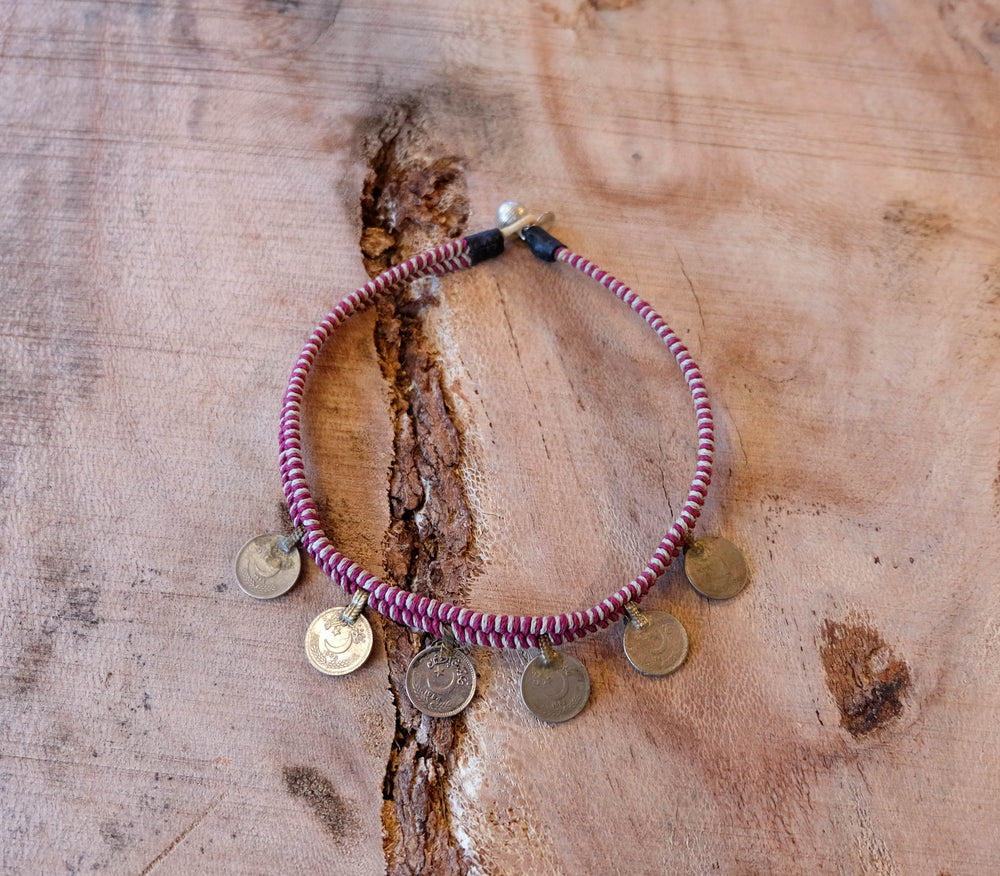 Macrame Shorty Coin Necklace - Made to Order
