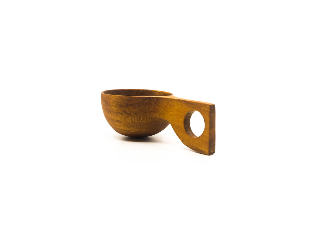 Teak Coffee Scoop 3.5""