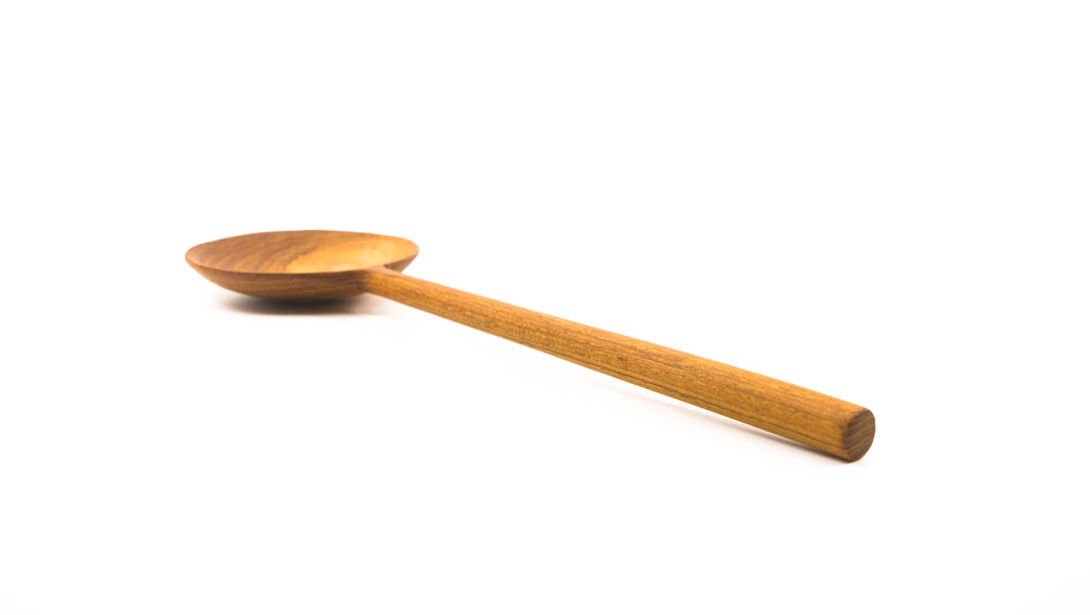 Teak Round Serving Spoon 10.5""