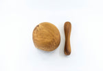 Teak Mortar & Pestle With Live Edge