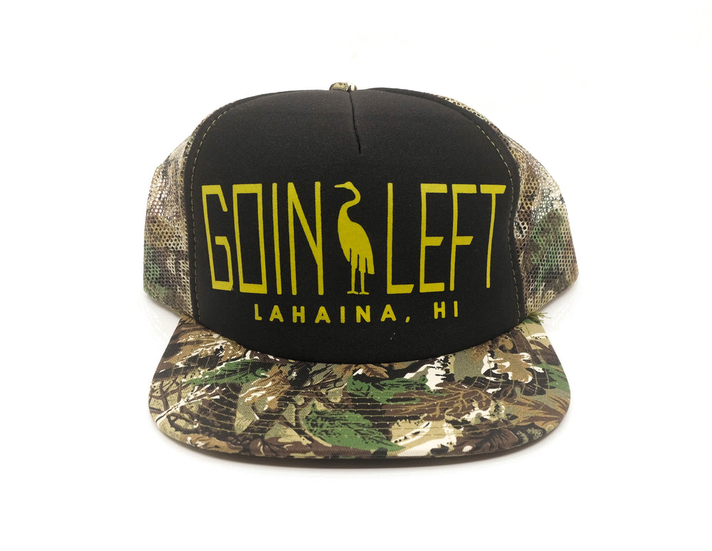 Goin Left Trucker Hat, Egret - Camouflage/Black