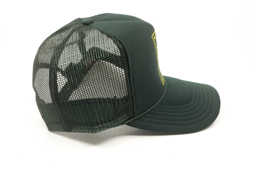Goin Left Trucker Hat, OG - Forest Green