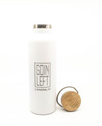 Goin Left 25oz. Water Bottle - White
