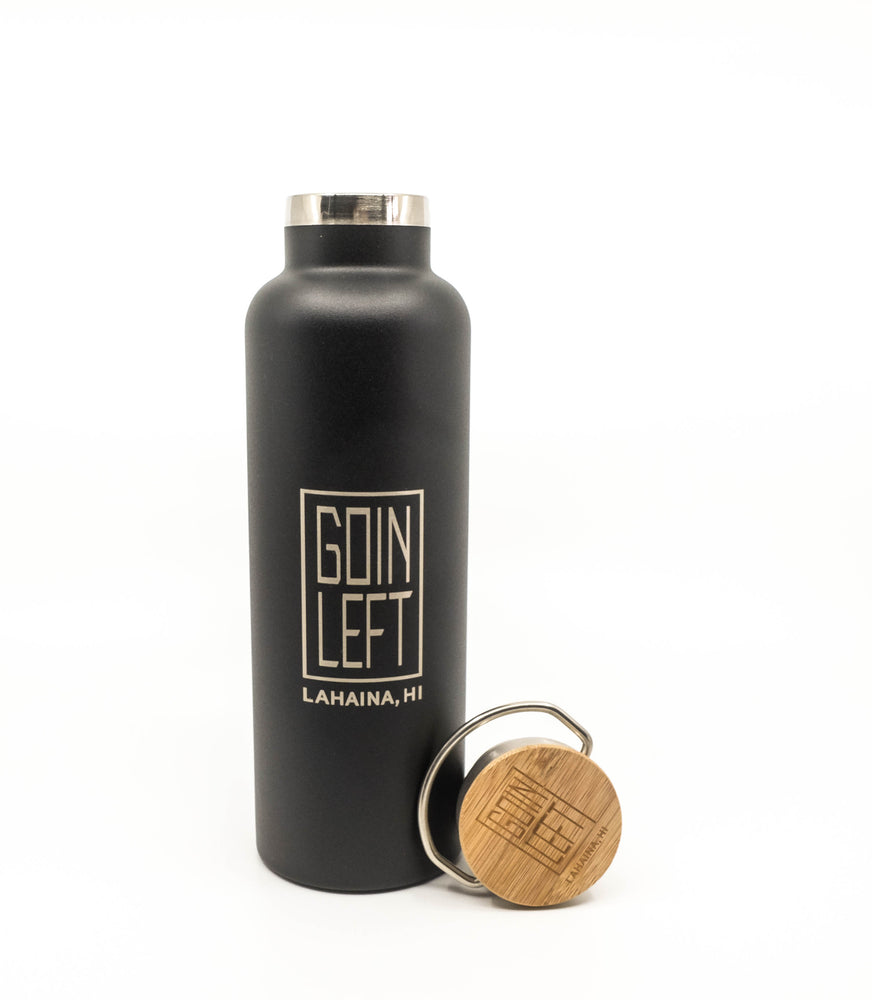 Goin Left 25oz. Water Bottle - Black