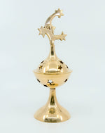 Brass Celestial Incense Burner - Moon