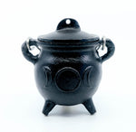 Cast Iron Cauldron - Triple Moon With Lid