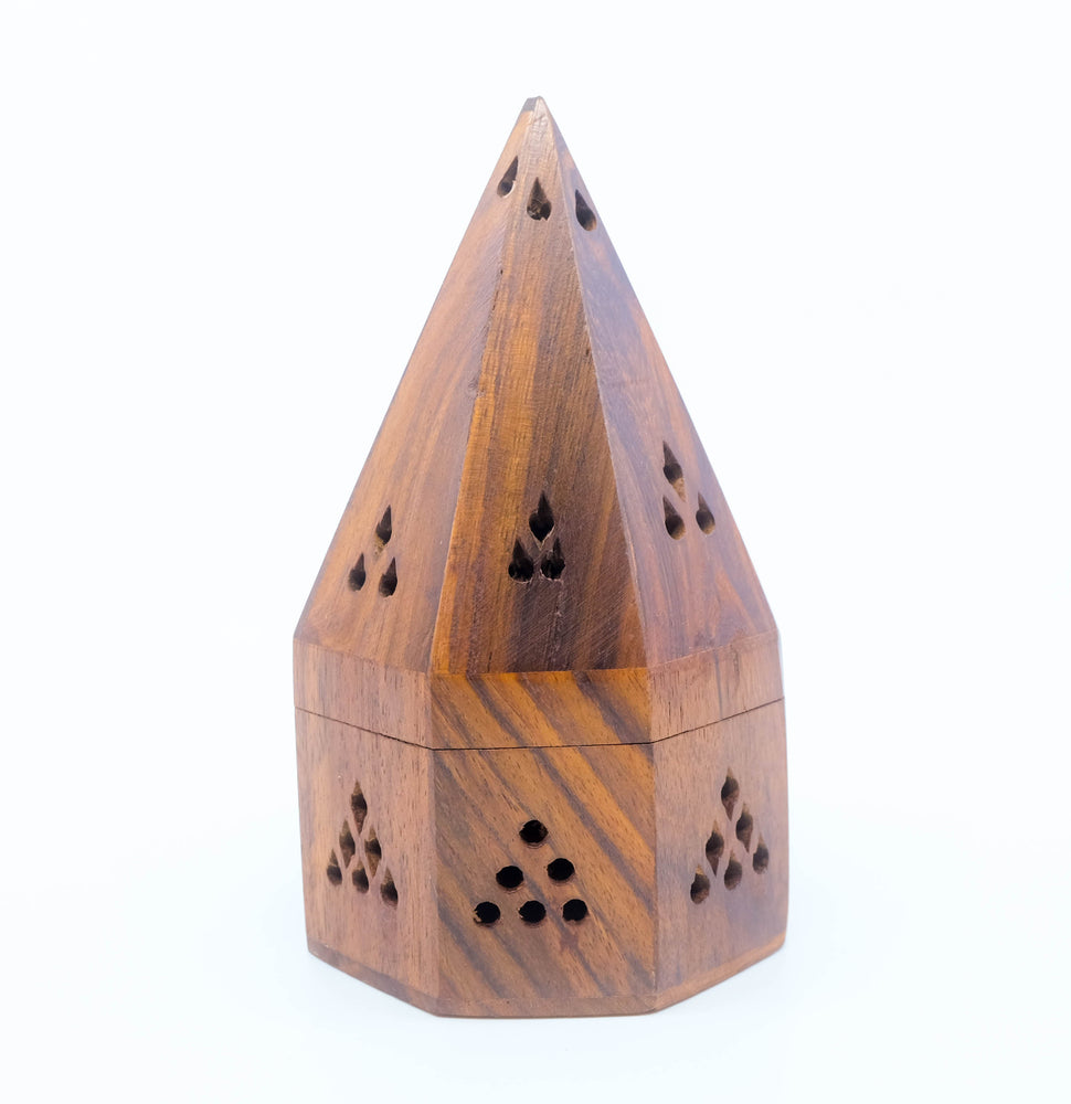 Wood Temple Cone + Charcoal Burner