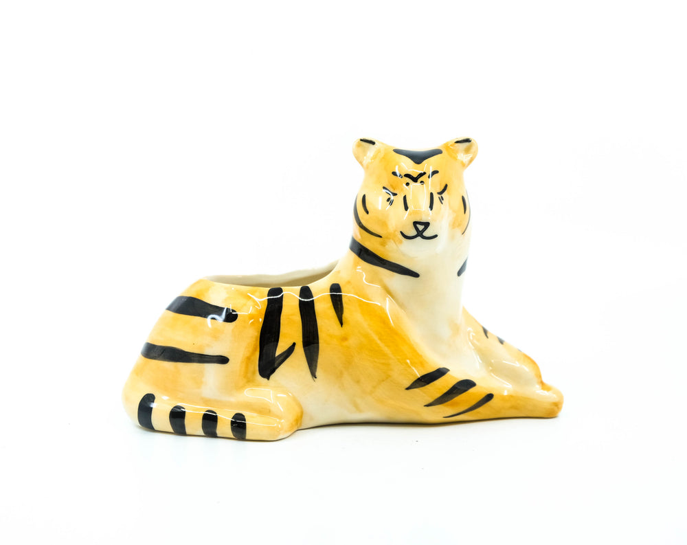 Tiger Sittin Pretty Planter 7""