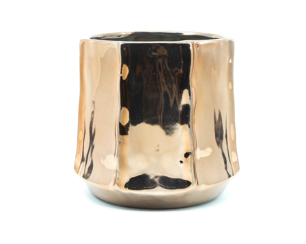 Organic Rose Gold Pot 6.25""