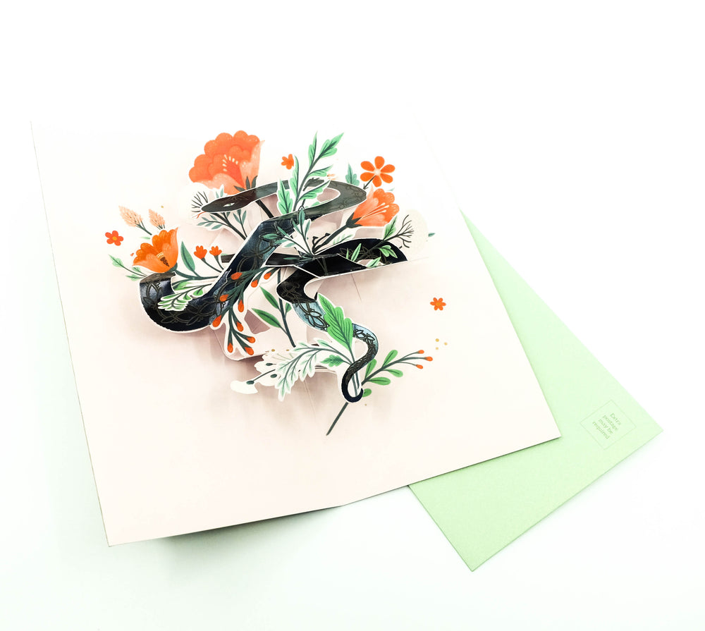 Snake Charmer Pop-Up Card