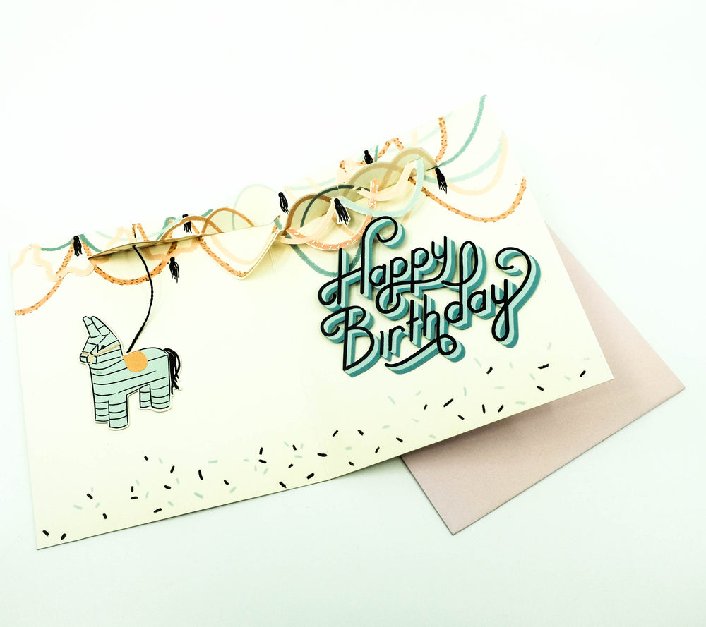 Pinata Birthday Pop-Up Card