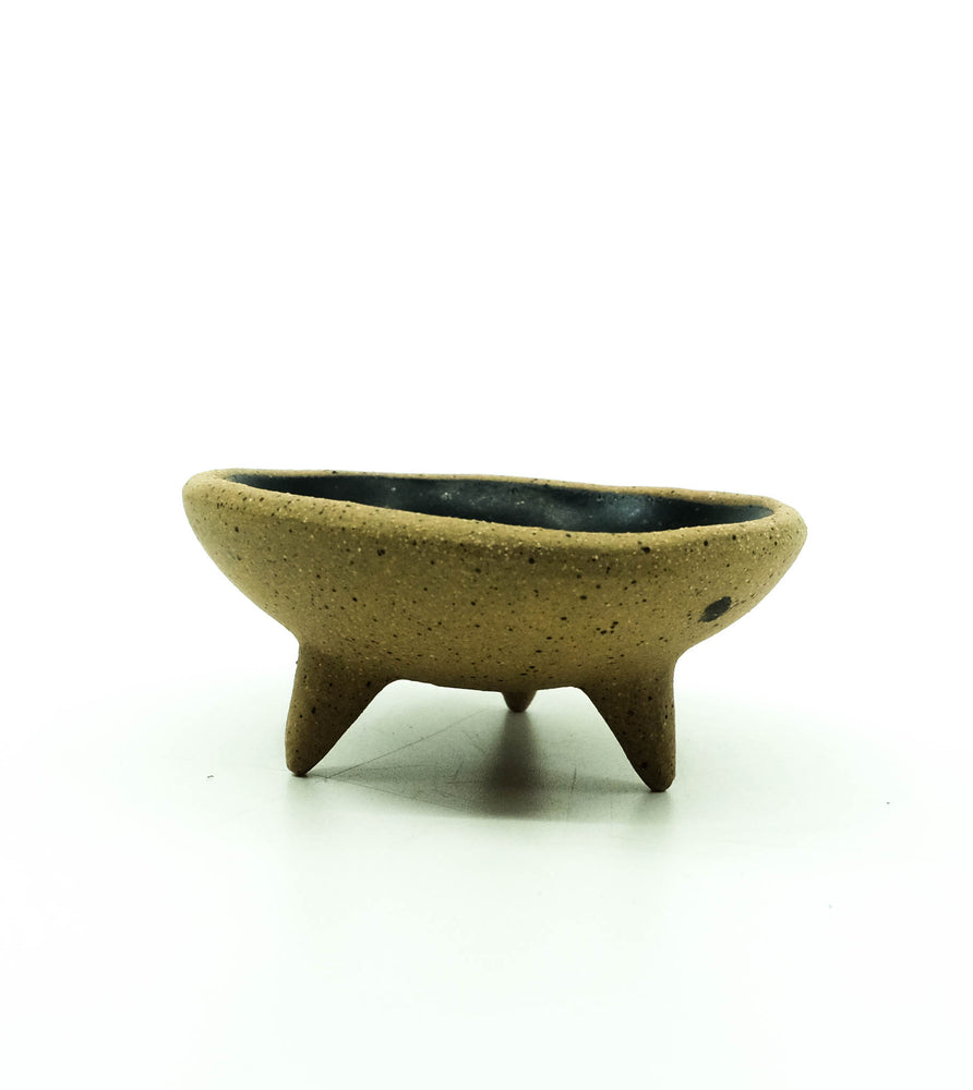 Ceramic Trinket Dish - Speckled Matte Black