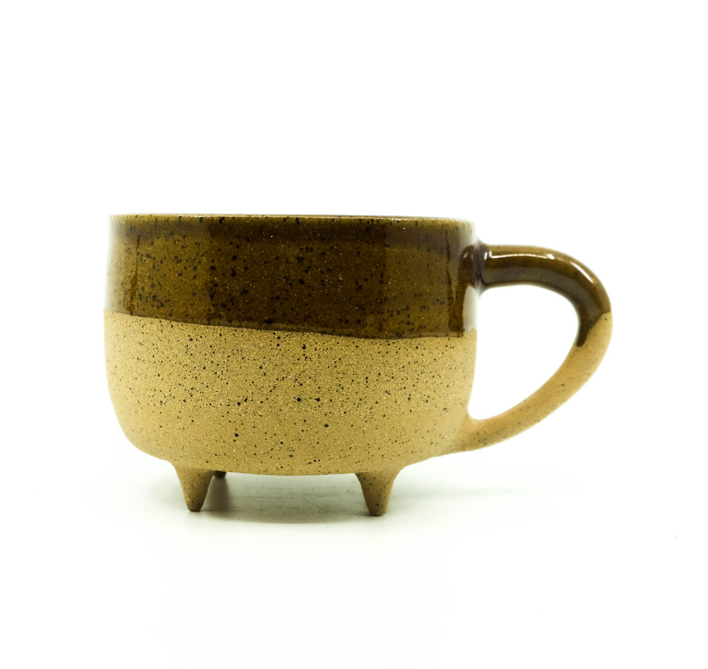Ceramic Footed Mug - Speckled With Amber
