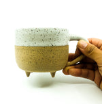 Ceramic Footed Mug - Speckled With Matte White