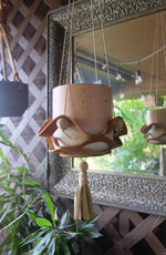 Leather + Ceramic Plant Hanger