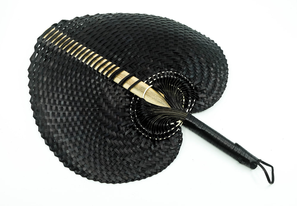 Hand Woven Straw Hand Fan - Large