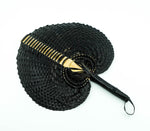 Hand Woven Straw Hand Fan - Small