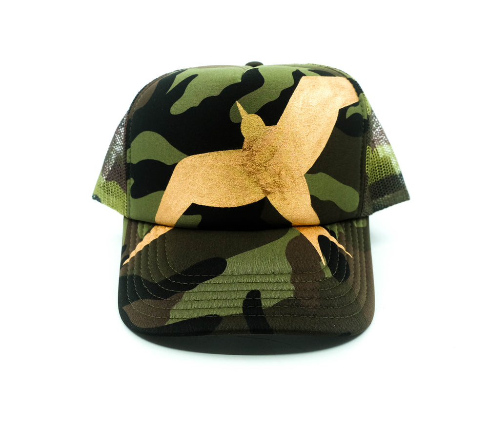 Hand Painted Iwa Trucker Hat - Camo