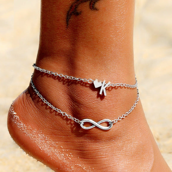 Initial Letter Anklet - Ebay Jewellery