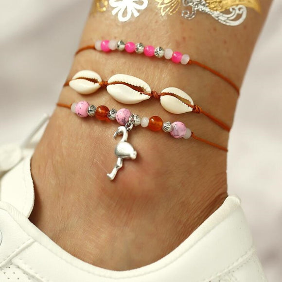 Flamingo Ankle Bracelet - Ebay Jewellery