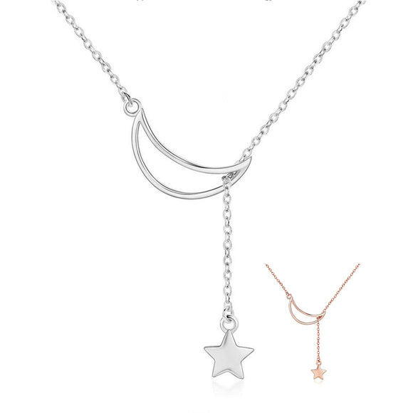 Moon and Star Necklace - Ebay Jewellery