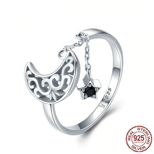 Moon And Star Ring - Ebay Jewellery
