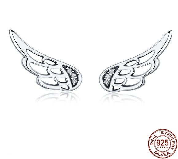 Silver Angel Wing Earrings - Ebay Jewellery