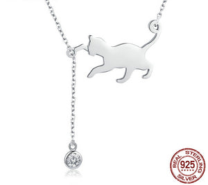 Silver Cat Necklace - Ebay Jewellery