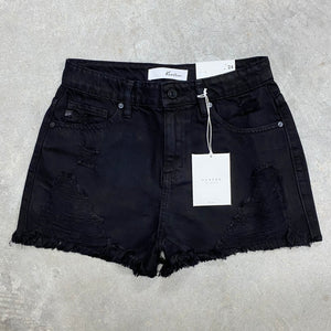 High Rise Shorts - Black