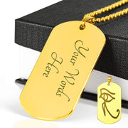 Personalized Eye of RAW Dogtag