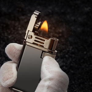 Windproof Automatic Pop Cap Oil Lighter