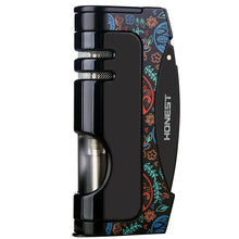 Load image into Gallery viewer, Torch Cigar Lighter Butane Squeeze Lighter With Blue Jet Flame