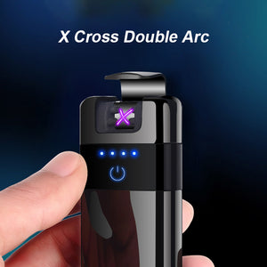 Luxury Electric Dual Arc Lighter - Wireless Rechargeable