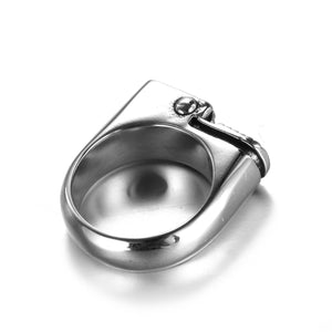 Stainless steel lighter shape ring with necklace