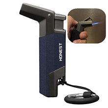 Load image into Gallery viewer, Pipe Lighter with Butane Torch Side Flame & Metal Body