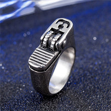 Load image into Gallery viewer, Stainless steel lighter shape ring with necklace